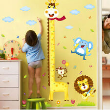 Giraffe Animal Growth Chart Wall Stickers Height Measure Decal Kid Room Decor