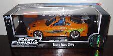 97505 1:18 Jada Toys Fast & Furious Brian's TOYOTA SUPRA * Arancione * (Nuovo di zecca con scatola)