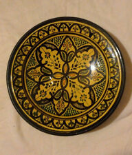 DECORATIVE CERAMIC PLATE HAND-PAINTED MORROCAN SIGNED