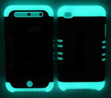 Clear Glitter w/ Glow in Dark Silicone Case Cover for Apple iPod Touch 4 4th Gen