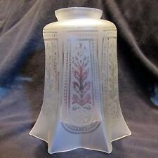 "Etch 2&1/4"" Glass Shade for old wall sconce,bridge lamp,antique ceiling fan"