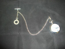 Single albert pocket watch chain fob t bar