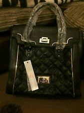 BNWT Beautiful Lipsy medium sized quilted tote bag, black, RRP £65