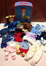 "Madeline 15"" Doll Wardrobe Trunk Genevieve Dog Outfits Accessories Toy Set Lot"