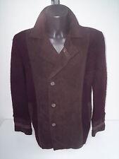 cappotto ,roberto cavalli,lana cotta e stoffa marrone ,tg 50