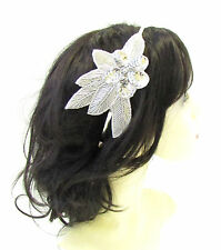 Argent Sequin Perle Serre Tête Fascinator Vintage 1920s Great Gatsby Charleston