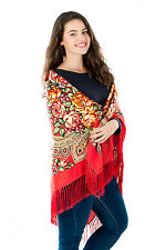 Large Slavonic Russian  folk vintage style scarf shawl new Winter collection