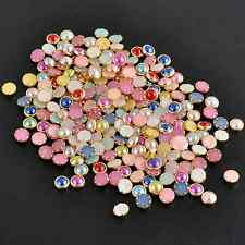 200PCS 4m 3D Acrylic Decor Nail Art Charms Bling Rhinestone Pearl Tips DIY IL