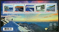 Canada #2718 UNESCO World Heritage Sites Souvenir Sheet MNH