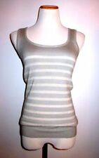 $1150 TULEH Grey & Silver Knit Cashmere/Silk Sleeveless Sweater - Sz M