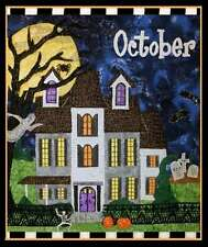 OCTOBER HOLIDAY HOUSES BLOCK OF THE MONTH QUILT PATTERN, From Zebra Patterns