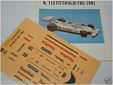 FITTIPALD F8 C F1 1981   1/43 DECALS