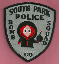 SOUTH PARK COLORADO BOMB SQUAD POLICE PATCH KENNY BLACK STYLE