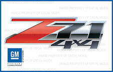 2007 - 2013 Chevy Silverado Z71 4x4 Decals Set - FS 3D - Truck Bed Side Stickers