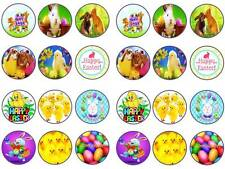 24 cake topper happy easter bunny chick egg chocolate cupcake toppers party