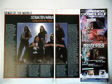 COUPURE DE PRESSE-CLIPPING :  STRATOVARIUS [2pages] 2004 Timo Tolkki,changement