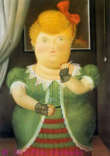 "Art Repro oil painting:""Fernando Botero Portrait at canvas"" 24x36 Inch #055"