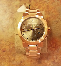 New! Burberry Swiss Chronograph Rose Gold Ion Plated 42mm Mens Watch BU9353 $895