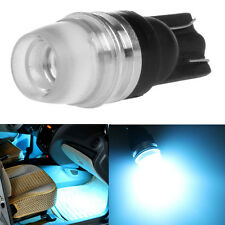 2x T10 5630 192 168 194 2LED Wedge Concave Lens Interior Light Bulbs Ice blue