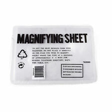 "New 2 x Magnification Large Full Page Reading Magnifying Sheet  7""x 10"""
