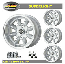 7x 13 SUPERLIGHT RUOTE Mini Classica Set di 4 SILVER