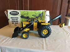 1970's Tonka Toy No. 2625 Industrial Tractor Trencher used w/box