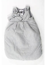 NWT MAGIL Girl's Gray Sleeveless Bow Detail Infant Winter Bunting Bag Sz NB