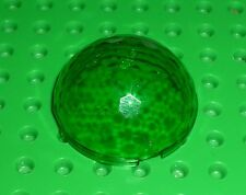 LEGO - CYLINDER, Hemisphere 4 x 4 Multifaceted - TRANS GREEN x 1 (30208) F22