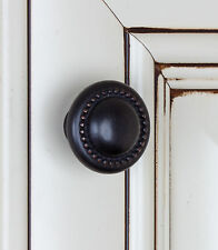 "5222-ORB - 1-1/4"" Round Beaded Knob Cabinet Drawer Hardware -  Oil Rubbed Bronze"