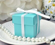 10 Mint Robin Egg Blue Boxes Wedding Baby Shower Box with Lid Turquoise & Co