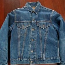 VINTAGE ORIGINAL LEVIS DENIM JACKET BIG E LOT 71205 1968 SIZE 40 BLANKET WOOL