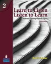 Learn to Listen, Listen to Learn, Level 2: Academic Listening and Note-Taking, 3