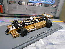 F1 ARROWS A1 Ford Cosworth Monaco GP 1979 #30 Mass Warsteiner Spark Res 1.43