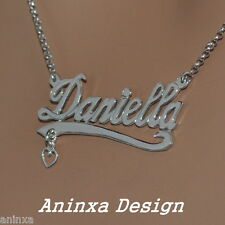Sterling Silver Personalized Monogram Initial Name Necklace Pendant Handmade