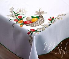 "Easter Tablecloth White Eggs 43"" (110cm) x 59"" (150cm)"