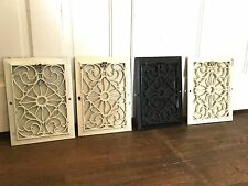 Lot of 4 Matching Antique Cast Iron Heat Register Grate Vent Victorian Vtg Floor