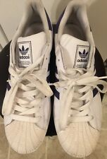Men's Adidas Shoes White Purple Trim US Size 13 Good Condition