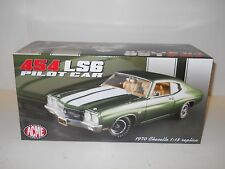 Acme 1:18 Diecast 1970 Chevelle 454 LS6 Pilot Car - Green MIB