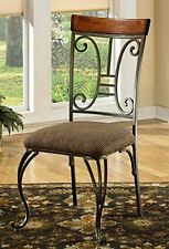 Ashley Plentywood Traditional Style Dining Side Chair W/ Upholstered Seat, 4 Set