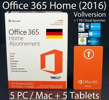 Microsoft Office 365 Home (2016) version intégrale BOX 5 pc/mac + 5 tablettes 32/64 Abo