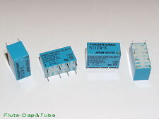 4pcs TAKAMISAWA 12V RELAY 2 form C DPDT RY12W-K Signal Relay For Audio
