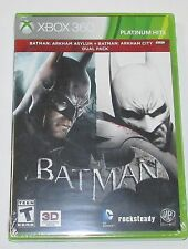 Batman Arkham Asylum/Arkham City for Xbox 360 Brand New! Factory Sealed!
