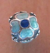 AUTHENTIC PANDORA DAISY FLOWER BRAND NEW BEAD #790433EB BLUE ENAMEL CHARM