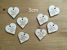 Wedding Gift MINI FAVOURS HEARTS Table Decoration Personalised Wooden Wish Tree