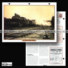 #082.09 Fiche Train - LA MALLE DES INDES & PENINSULAR-EXPRESS - 1855