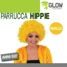 PARRUCCA HIPPIE GIALLO anni 50 60 festa carnevale parrucche maschere party 33628