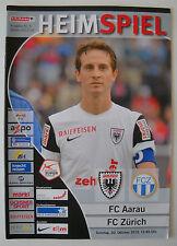 HEIMSPIEL - Programm 2013/14 FC Aarau - FC Zürich N. 5