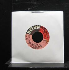 "Little Johnny Taylor - You're Savin' Your Best Loving For Me 7"" VG+ 1973 RONN 78"