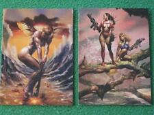 Art of Boris Vallejo & Julie Bell Collector Cards Complete Basic Set of 72 MINT