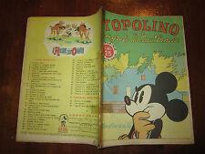 WALT DISNEY ALBO D'ORO N°43 TOPOLINO E IL SEGRETO DI CASA PANCIA 8-3-1947
